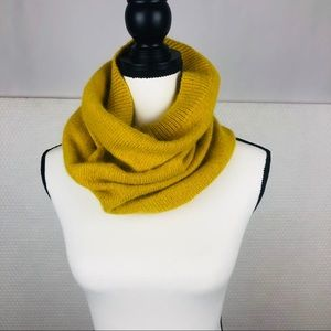 H&M Wool Neck Gaiter Wrap Mustard Yellow